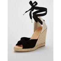 OFFICE Hvar Wedge Shoe - Black, Black, Size 8, Women