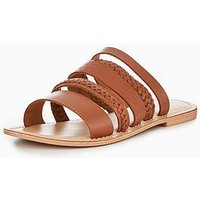 OFFICE Seneca Leather Sandal - Brown, Brown Leather, Size 3, Women
