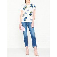 Sportmax Code Marco Floral Embroidered T-Shirt - White