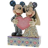 Disney Traditions Valentines Mickey Mouse and Minnie Mouse Two Souls One Heart Figure, Multi, Women
