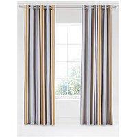 Scion Lintu 100% Cotton Panama Lined Eyelet Curtains &Ndash; 168 X 229 Cm