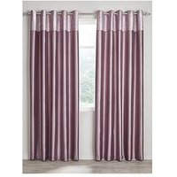 Morgan Metallic Top Faux Silk Eyelet Curtains