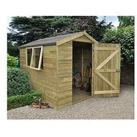 Product photograph showing Forest 8 X 6ft Premium Tongue Amp Groove Pressure Treated Apex Shed