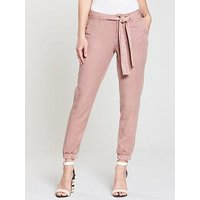 V by Very Tencel Cuffed Hem Trouser - Dusty Pink, Dusty Pink, Size 20, Women