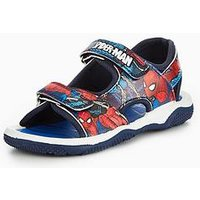 Marvel Spiderman Trecker Sandal, Blue/Red, Size 12 Younger