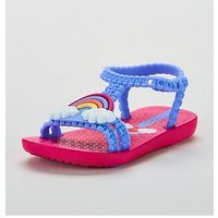 MEL Ipanema Rainbow Sandal, Violet, Size 3.5 Younger
