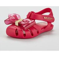 Zaxy Glamour Bow Jelly Sandal, Pink, Size 5 Younger