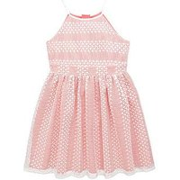 V by Very Girls Lace Prom Dress - Pink , White/Pink, Size 14 Years, Women