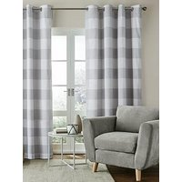 Catherine Lansfield Catherine Lansfield Bold Check Lined Eyelet Curtains 90X90
