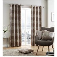 Catherine Lansfield Catherine Lansfield Metallic Leaf Lined Eyelet Curtains 90X90
