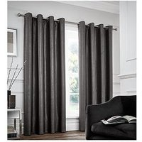 Catherine Lansfield Chelsea Lined Dim Out Eyelet Curtains