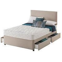 Layezee Made By Silentnight Fenner Bonnel Spring Divan Bed With Half-Price Headboard Offer (Buy And Save!)