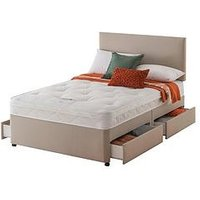 Product photograph showing Layezee Made By Silentnight Fenner Bonnel Ortho Divan Bed With Storage Options