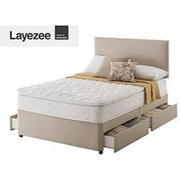 Layezee Fenner Bonnel Pocket Spring Divan Bed With Storage Options And Half-Price Headboard Offer (Buy And Save!)