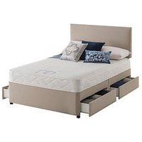 Product photograph showing Layezee Made By Silentnight Layezee Fenner Bonnel Memory Divan Bed With Storage Options