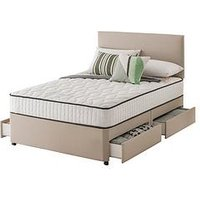 Layezee Addison 800 Pocket Sprung Divan Bed With Storage Options And Half-Price Headboard Offer (Buy And Save!)