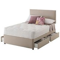 Product photograph showing Layezee Made By Silentnight Addison 800 Pocket Ortho Divan Bed With Storage Options