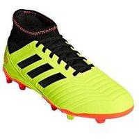 adidas Adidas Junior PREDATOR 18.3 Firm Ground Football Boots, Yellow/Black, Size 3, Men