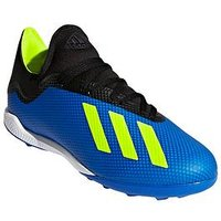 adidas Mens X 18.3 Astro Turf Football Boot - Blue/Yellow , Blue/Yellow, Size 6, Men