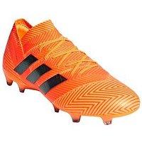 adidas Adidas Mens Nemeziz 18.1 Firm Ground Football Boot, Black, Size 7, Men