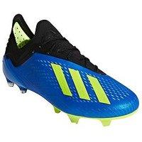 adidas Mens X 18.1 Firm Ground Football Boot - Football Blue , Blue/Yellow, Size 11, Men