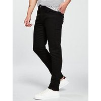 V by Very Skinny Fit Jean - Black , Black, Size 36, Inside Leg Short, Men