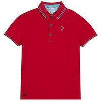 Baker by Ted Baker Boys Bright Polo, Pink, Size 12-13 Years