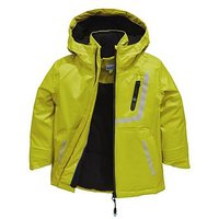 Baker by Ted Baker Boys Lightweight Printed Reflective Jacket, Lime, Size Age: 13 Years