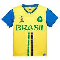 Boys, Football Brazil Tee, Yellow, Size Age: 3-4 Years