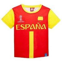 Boys, Football Spain Tee, Yellow, Size Age: 3-4 Years