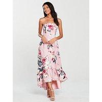 V By Very Satin Prom Dress - Print