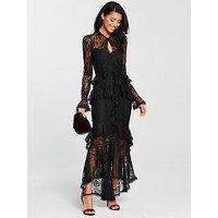 V By Very Figure-Hugging Maxi Dress - Black
