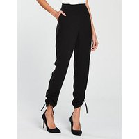 V by Very Drawstring Hem Trouser - Black, Black, Size 18, Women