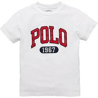 Ralph Lauren Boys Short Sleeve Icon T-Shirt, White, Size 18-20 Years=Xl