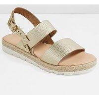 Aldo Lovywien Flat Sandal - Gold, Gold, Size 8, Women