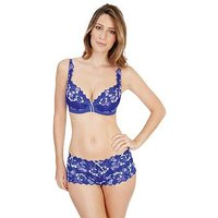 Lepel Fiore Padded Plunge Bra - Cobalt Blue , Cobalt Blue, Size 38F, Women