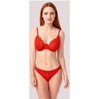 Lepel Charlie Brazilian Brief - Red, Red, Size 6, Women