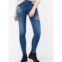 Monsoon Afina Embellished Skinny Jean - Indigo, Indigo, Size 12, Women