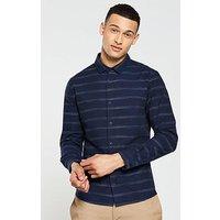 V by Very Long Sleeved Horizontal Stripe, Navy, Size Xl, Men