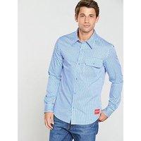 Calvin Klein Jeans Ck Jeans Gingham Slim Fit Long Sleeve Shirt, Regatta, Size 2Xl, Men