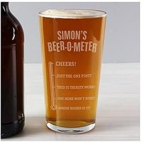 Beer-O-Meter Pint Glass, One Colour, Women
