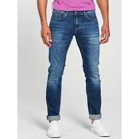Tommy Jeans Slim Scanton Jean, Wilson Mid Blue, Size 32, Length Long, Men