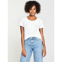 V by Very Embroidered Insert Top - Ivory, Ivory, Size 18, Women