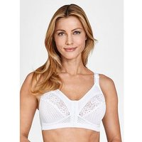 Miss Mary of Sweden Miss Mary Of Sweden Front Fastening Lace Bra, White, Size 36D, Women