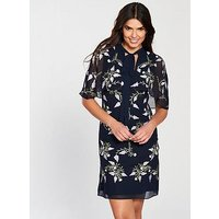 Frock and Frill Camile Embroidered Cape Dress, Night Sky, Size 14, Women