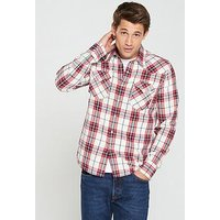 Levi's Levis Barstow Western Checked Shirt, Red, Size S, Men