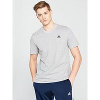 adidas Essential Base T-Shirt, Medium Grey Heather, Size 2Xl, Men