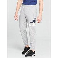 adidas Essential Logo Track Pants, Medium Grey Heather, Size Xl, Men