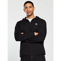 adidas Originals TRF Back Logo Fleece Hoodie, Black, Size Xs, Men