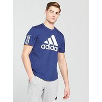 adidas Logo T-Shirt, Ink, Size S, Men